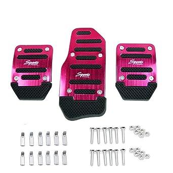 Pedales de automoción, 3 piezas, kit de pedal antideslizante para transmisión manual universal de