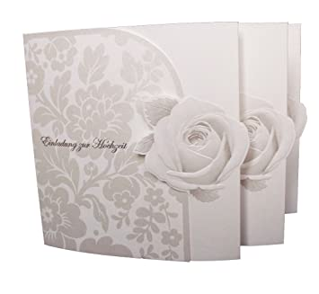 Einladungskarte Hochzeit Edel 20er Pack Amazon De Burobedarf