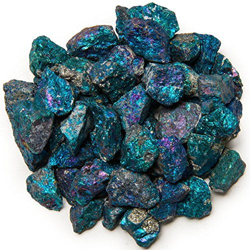 Digging Dolls: 1 lb Chalcopyrite Peacock Ore from Mexico - Avg. 1/2