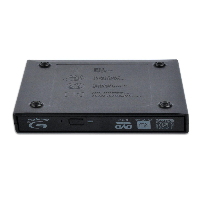 Grabador externo de DVD y CD y lector de Blu-ray para portátiles y ordenadores de sobremesa (conexión USB 2.0)