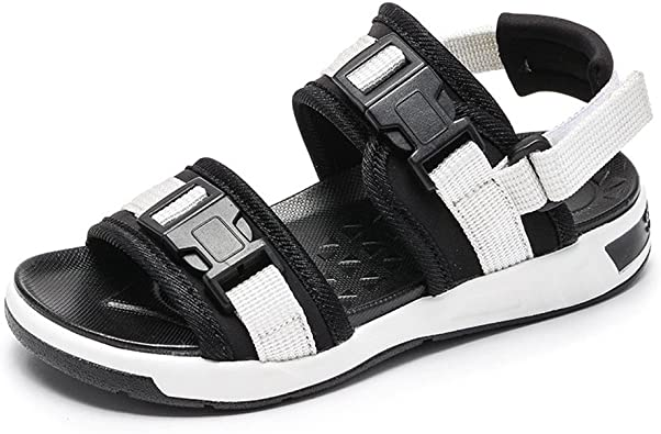 Baviue Cool Leather Kids Sandles Boys Athletic Sandals