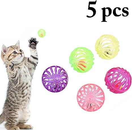 Bangcool - Pelota de Juguete para Gatos, 5 Unidades ...