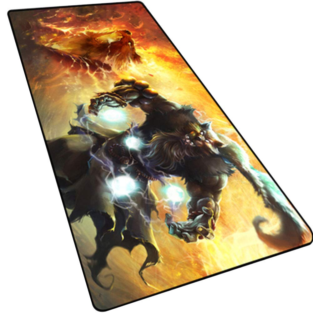 LOGER Oversized Gaming Mouse pad, Padded Seam Racing Table mat, Computer Keyboard pad, Non-Slip Waterproof, Suitable for Office games-1-90x40cm by LOGER