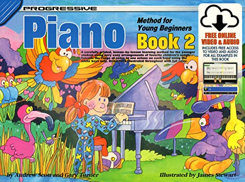 18327 - Progressive Piano Method for Young Beginners Book 2 - Book/Online Video & Audio (Progressive Young Beginners) (2 Piano Book 101)