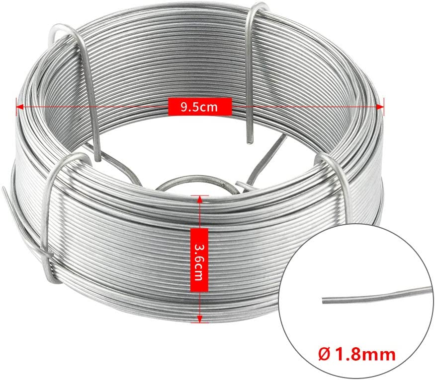 Amagabeli 50M X 0.9MM X 6 Pieces Garden Wire Coil Galvanised Wire Fencing Stainless Galvanized Plant wire Fence Accessories Winding Wire for Climbing Plants Silver WR7