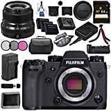 Fujifilm X-H1 Mirrorless Digital Camera (Body Only) 16568731 XF 23mm f/2 R WR Lens (Black) 16523169 VPB-XH1 Vertical Power Booster Grip Bundle