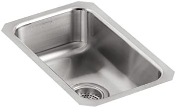 Kohler K 3333 Na Undertone Small Squared Undercounter Kitchen Sink Stainless Steel
