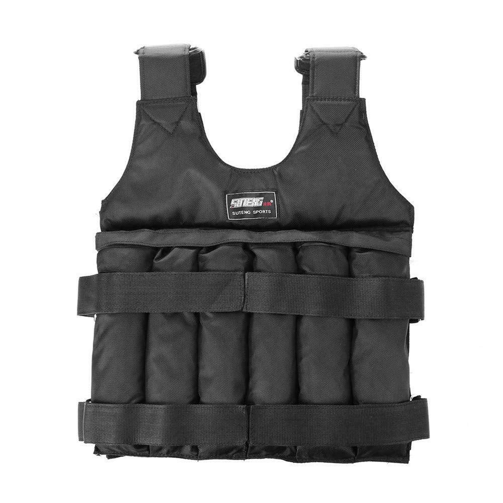 DIYARTS Weight Vest Adjustable Weighted Running Jacket for Weight Loss Gym Strength Training Fitness Maximum Load 20kg 50kg (50KG)