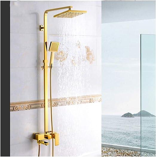 TAN Oro Columna de Ducha con Agua Caliente y Fria Sistema de Ducha ...