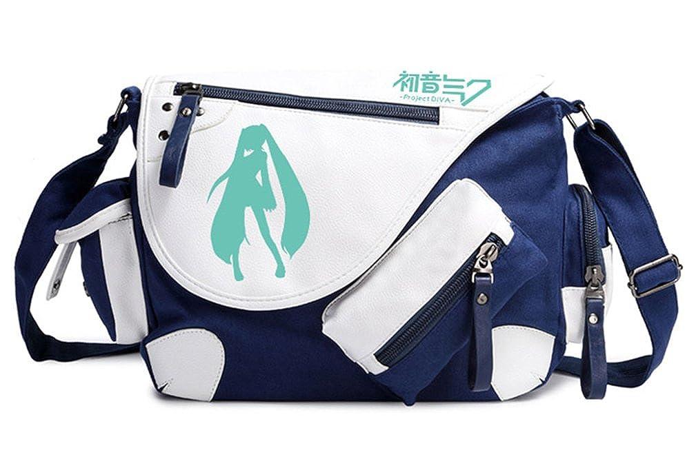 Gumstyle Hatsune Miku Classic Shoulder School Bag Anime Cosplay Messenger Bag Blue