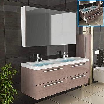 Badezimmer Möbel / Waschbecken / Doppelwaschtisch / Badmöbel / Unterschrank  / Waschplatzlösung / Modell Garda