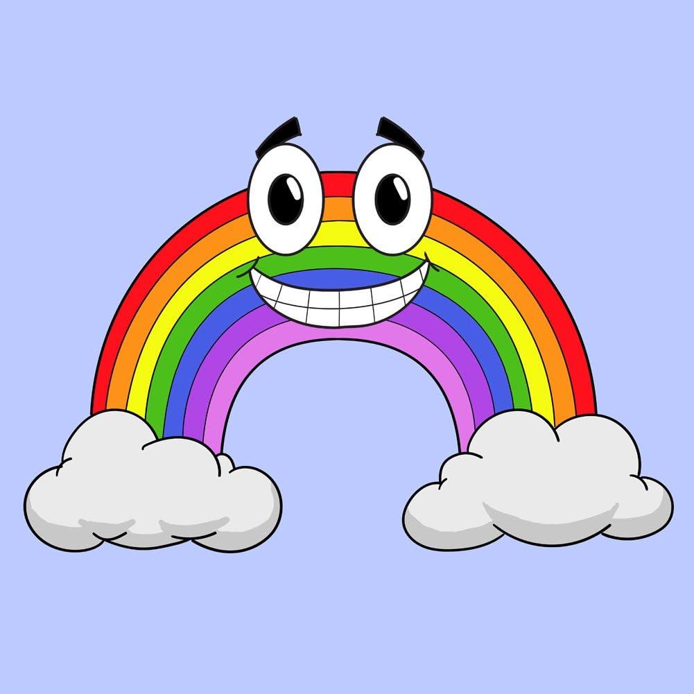 Amazon.com: Vinyl Sticker - Smiling Rainbow Cartoon