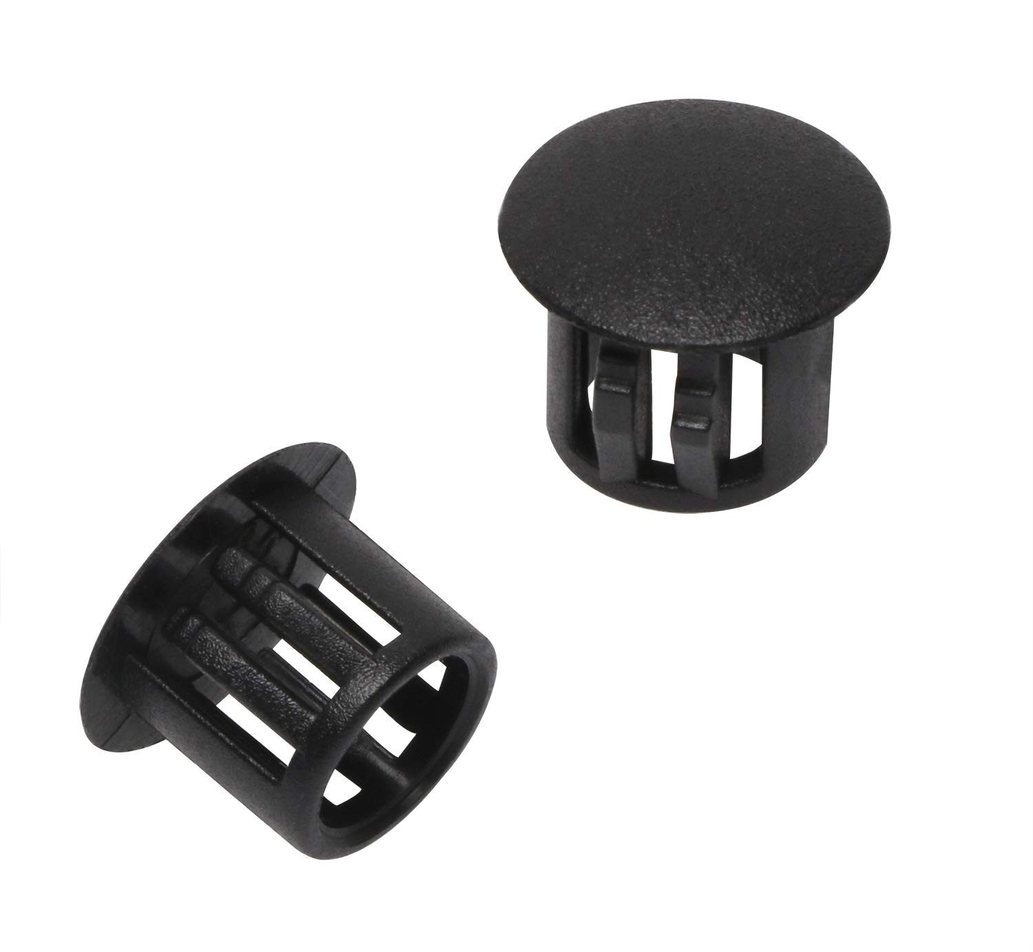 5mm//0.2inch, Black ONLYKXY 10 Pcs 5-25MM Diameter Nylon Plastic Round Snap in Type Locking Furniture Hole Plugs Button Protective Cover Cap Head Color Black