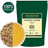 VAHDAM, Turmeric Ginger Herbal Tea Loose Leaf, (100 Cups) 200g | India's Wonder Loose Leaf Tea Spice | Blend of Turmeric Tea & Ginger Tea | 100% Natural Detox Tea | Loose Leaf Decaf Tea Leaves