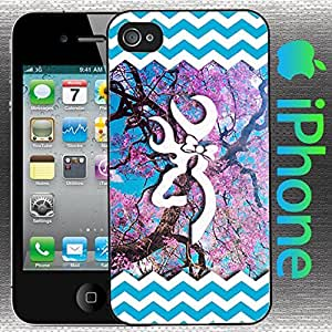Country Girl Pink Dogwood Tree and Blue Buck with Bow iPhone 5 / 5s Case