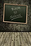 Yeele 6.5x10ft Back To School Photography Backdrops Education Blackboard Vintage Wood Floor Off To College Photo Background Student Teacher Portrait Photo Booth Shoot Studio Props
