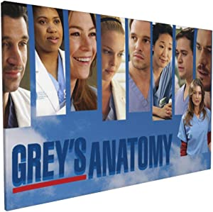 Bestrgi Wall Art for Living Room Posters On Canvas Painting Grey's Anatomy Modern Landscape Pictures Decorations Waterproof Artwork Bathroom Decor Framed 16x24 Inches No Frame Only Canvas