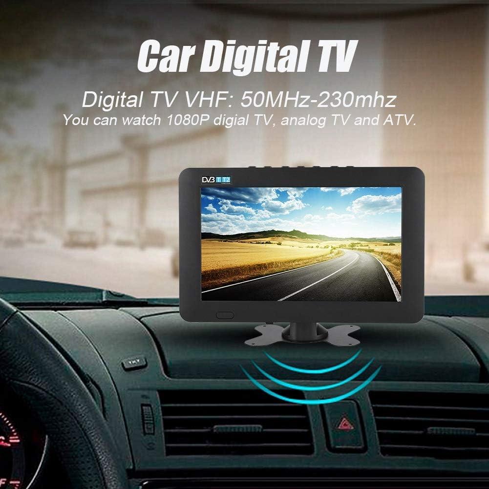 DVB-T2 Televisor Portátil Estéreo Digital de Alta Sensibilidad para Automóvil, 7 in/ 9 in / 10 in 1080P TV Digital para Automóvil, con Soporte (Negro)(9in): Amazon.es: Electrónica