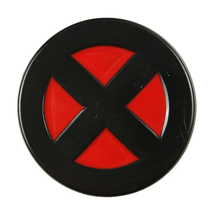 X Men Red Black Round Belt Buckle Xmen Logo X Amazon Clothing