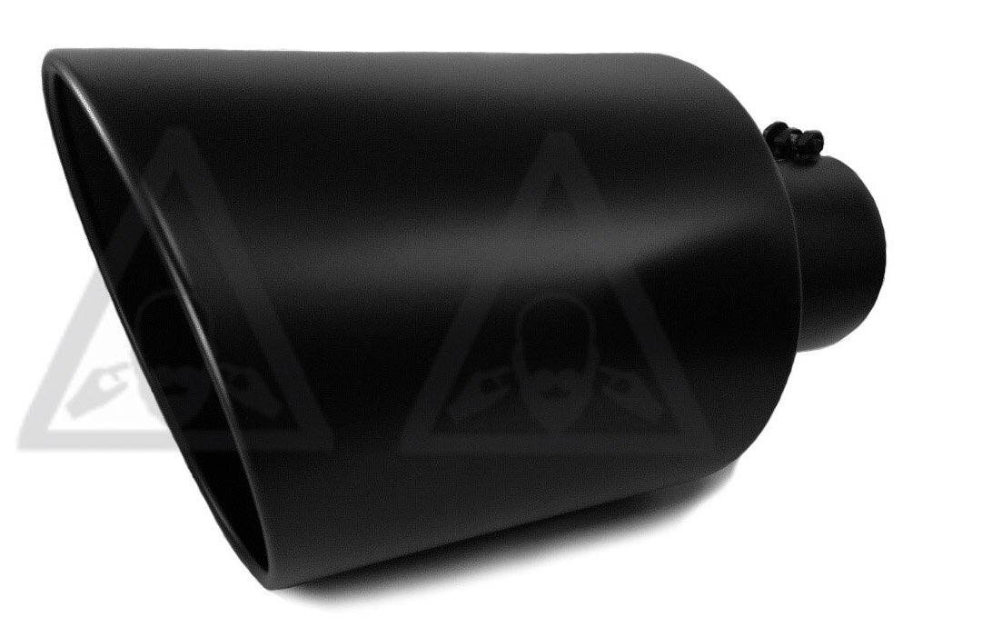 Diesel truck exhaust tip 5' inlet 10' outlet 18' long powder coated black coltexhaust