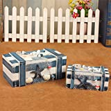 WWJ/ Eastern Mediterranean storage box. box with wooden Ocean series. creative European style wooden box , big