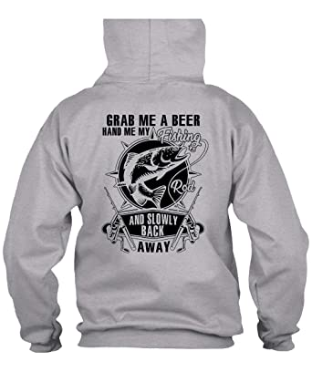 2fb753c79 Amazon.com: Grab Me Beer Hand Me My Fishing Hoodies, I Love Fishing ...