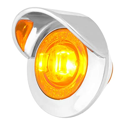 """GG Grand General 75250 Amber/Amber LED Light (1"""" Mini 1 with Clear Pl. Bezel and Visor): Automotive"""
