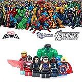 ABG toys Minifigures MARVEL DC Comics Avengers Super Heroes Black Widow, Hawkeye, Iron Man, Hulk, Le Faucon, Thor, Captain America and Nick Fury Minifigure Series Building Blocks Sets Toys