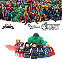 ABG toys Minifigures MARVEL DC Comics Avengers Super Heroes Black Widow, Hawkeye, Iron Man, Hulk, Le Faucon, Thor, Captain America and Nick Fury Minifigure Series Building Blocks Sets Toys