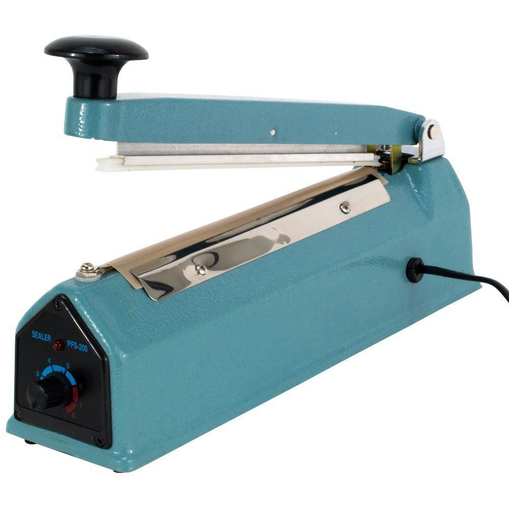 PrimeTrendz Hand Impulse Sealer Heat Seal Machine Poly Sealing With Element Grip and Teflon 12'' (Inch) by PrimeTrendz TM (Image #5)