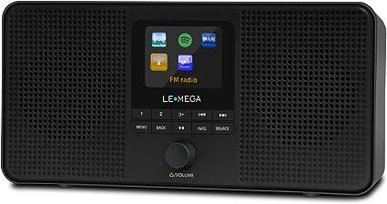 Radio de Internet portátil estéreo LEMEGA IR4, Radio Digital Dab/Dab + / FM, WiFi, Spotify, Altavoz Bluetooth, alarmas duales, Salida de Auriculares, batería y alimentación por USB: Amazon.es: Electrónica
