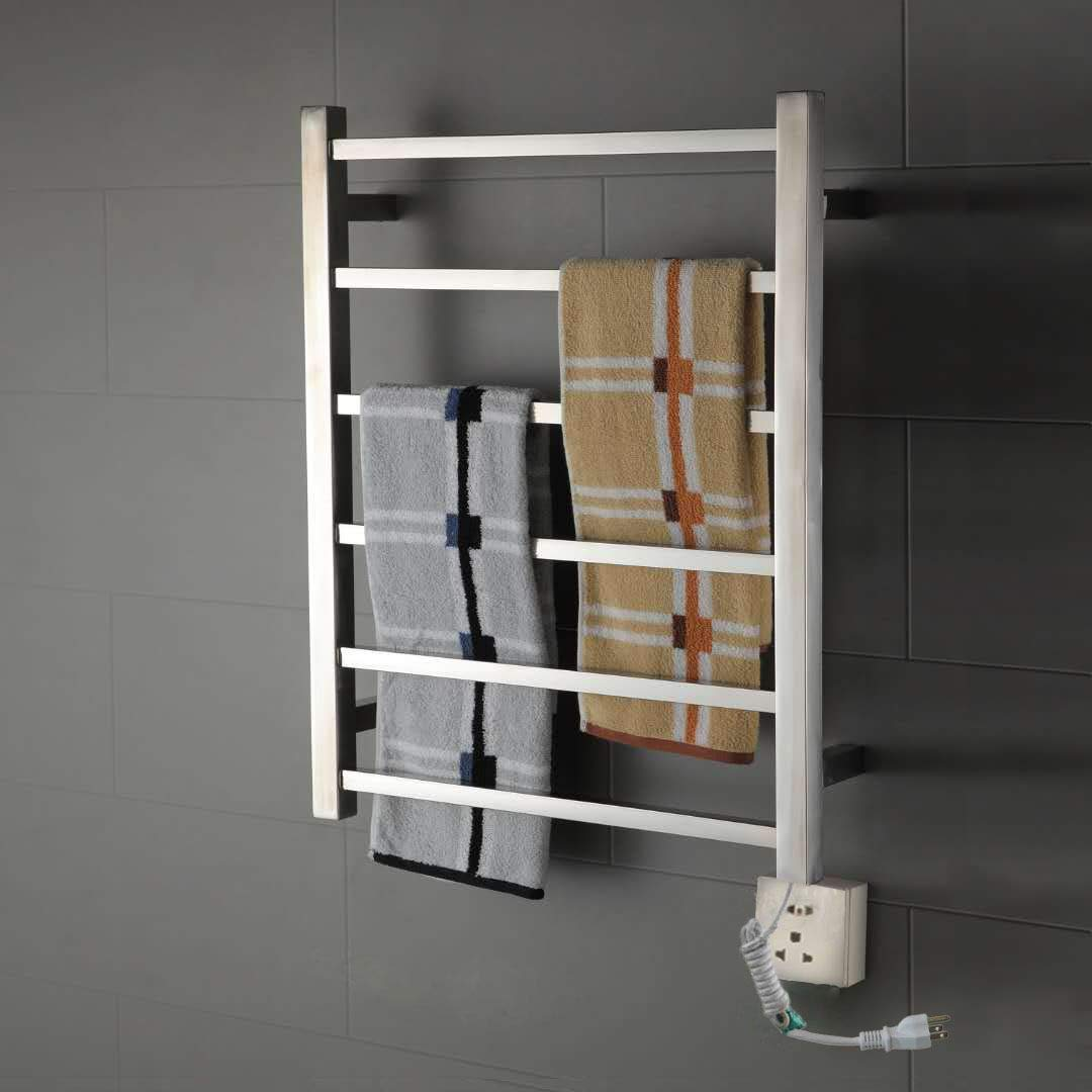 Amazon.com: Onda Towel Warmer Stainless Steel Wall Mounted Heated 6 Bars 110-120V: Home & Kitchen