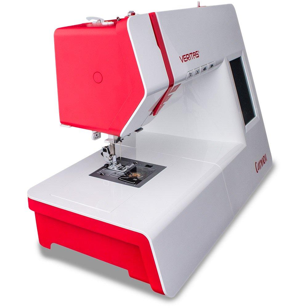 Veritas 1312 Carmen Nähmaschine, Kunststoff/Metall, weiß/rot, 44 x ...
