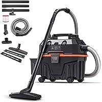 $69 » Shop Vacuum, 4.5 Peak Hp Wet Dry Vacuum 4 Gallon, Lightweight Powerful Suction with…