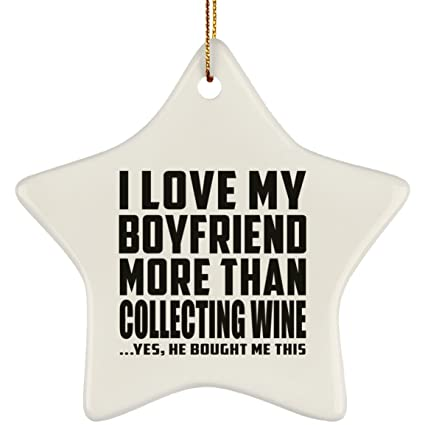 Amazon Com Designsify Girlfriend Ornament I Love My Boyfriend More