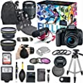 Canon EOS Rebel T7i DSLR Camera Deluxe Video Creator Kit with Canon EF-S 18-55mm f/3.5-5.6 IS STM Lens + Wide Angle Lens + 2x Telephoto Lens + Flash + SanDisk 32GB SD Memory Card + Accessory Bundle from Canon