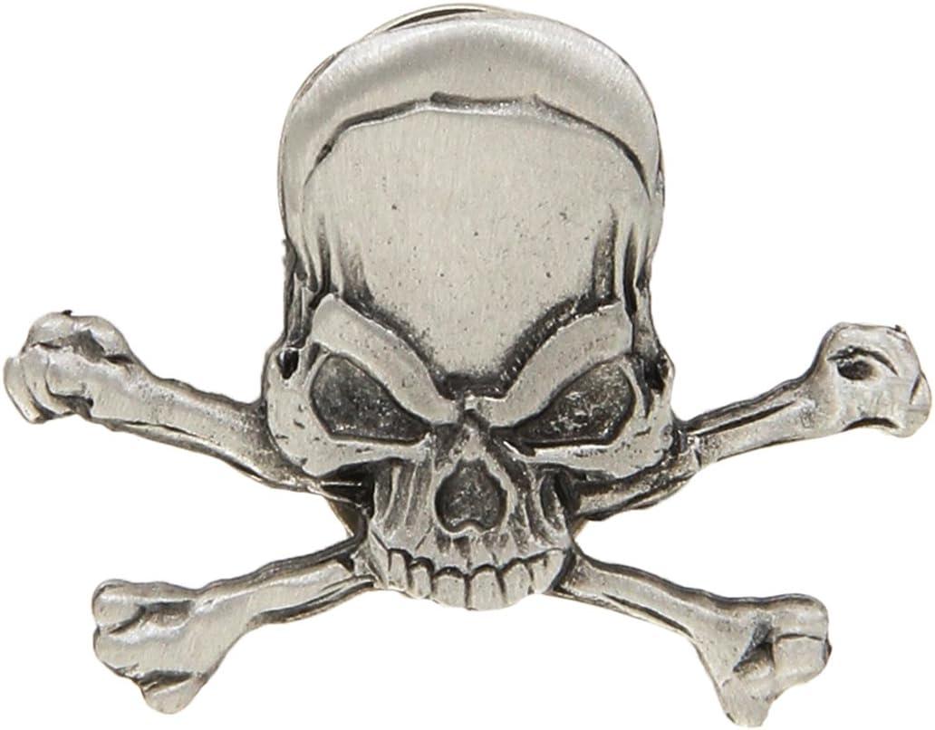 Hot Leathers PNA1155 Pirate Skull Biker Pin: Automotive