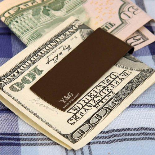 MC1035 Work-utility Hombre Chocolate Silla Brown Rectš¢ngulo Acero inoxidable Clip de dinero Regalo para el matrimonio Por Y&G: Amazon.es: Ropa y accesorios