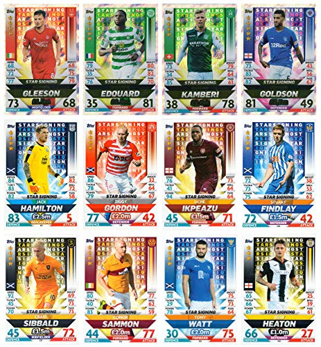 SPFL MATCH ATTAX 2018/19 18/19 ALL TWELVE (12) STAR SIGNINGS CARDS - SPL