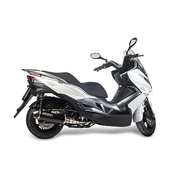 Escape Yasuni máxima de scooter 4T Black Carbon Kawasaki J125 Kymco Supe rdink 125 V21: Amazon.es: Coche y moto