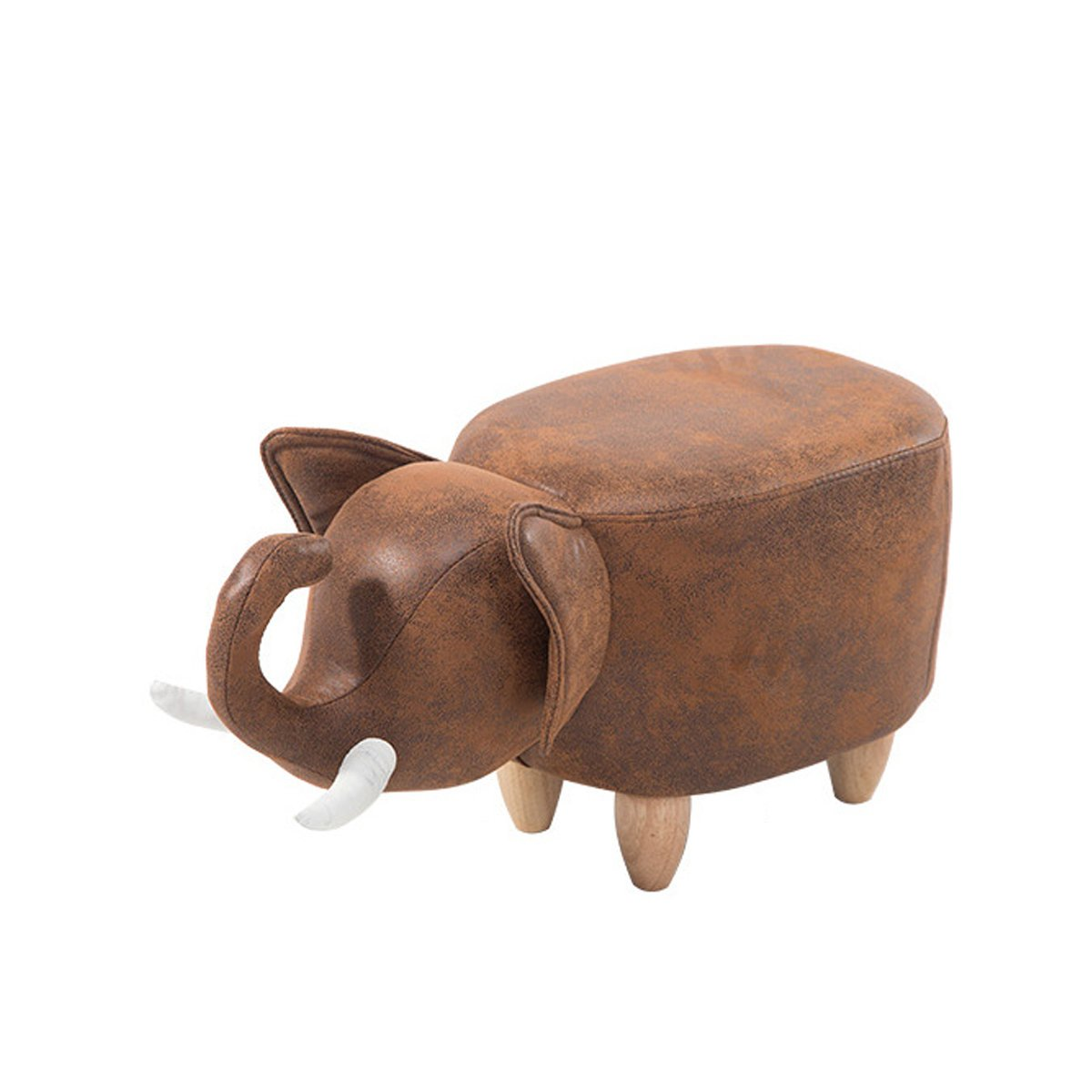 Layboo Can Wash Cute Little Elephant Animal Modeling Stool,Ottoman Stool
