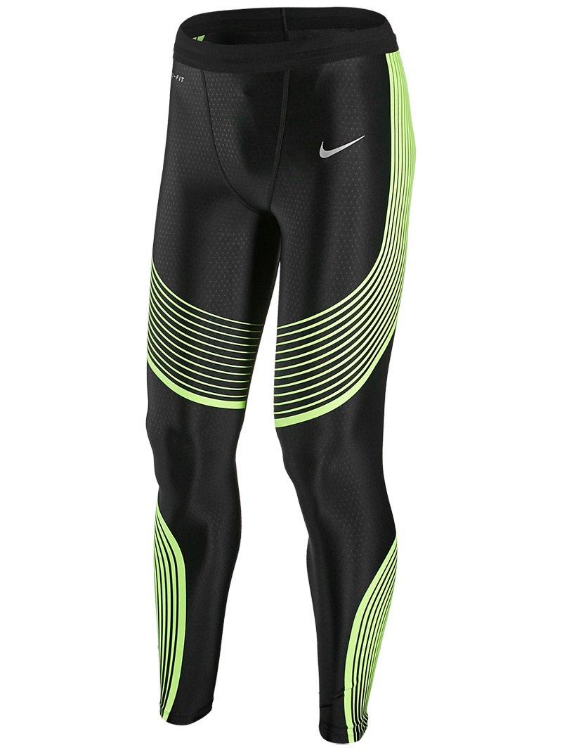 Nike Men's Power Speed Running Tight LG Black/Volt