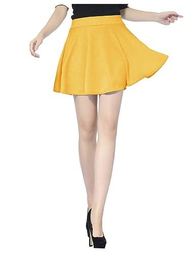 Pleated Casual Mini Skater Skirt