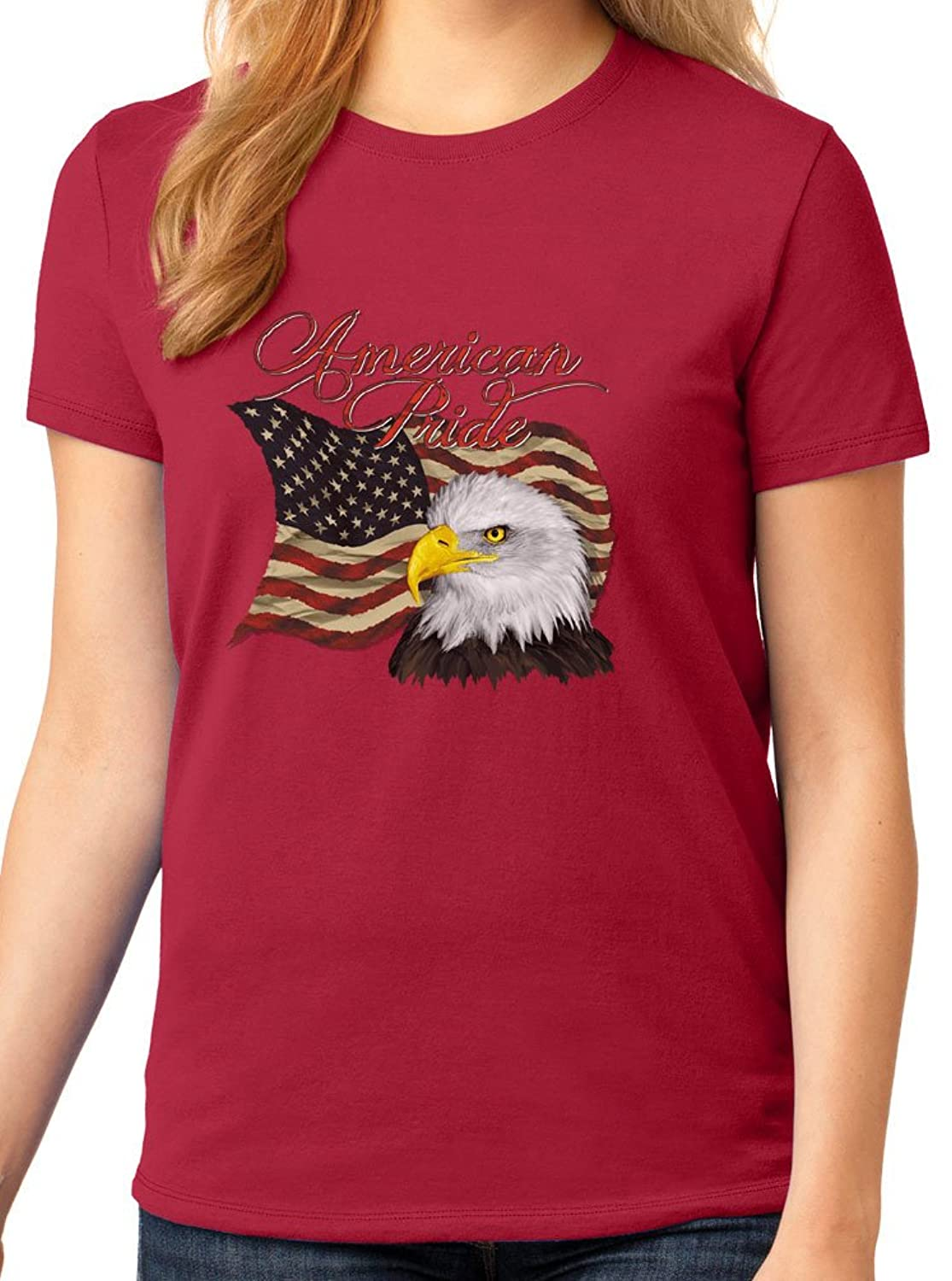Women's American Pride Eagle Graphic Tee