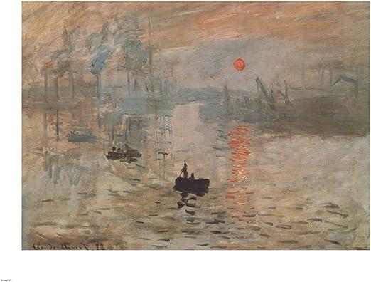 LAKE ART PRINT Impression Sunrise green Claude Monet 30x24