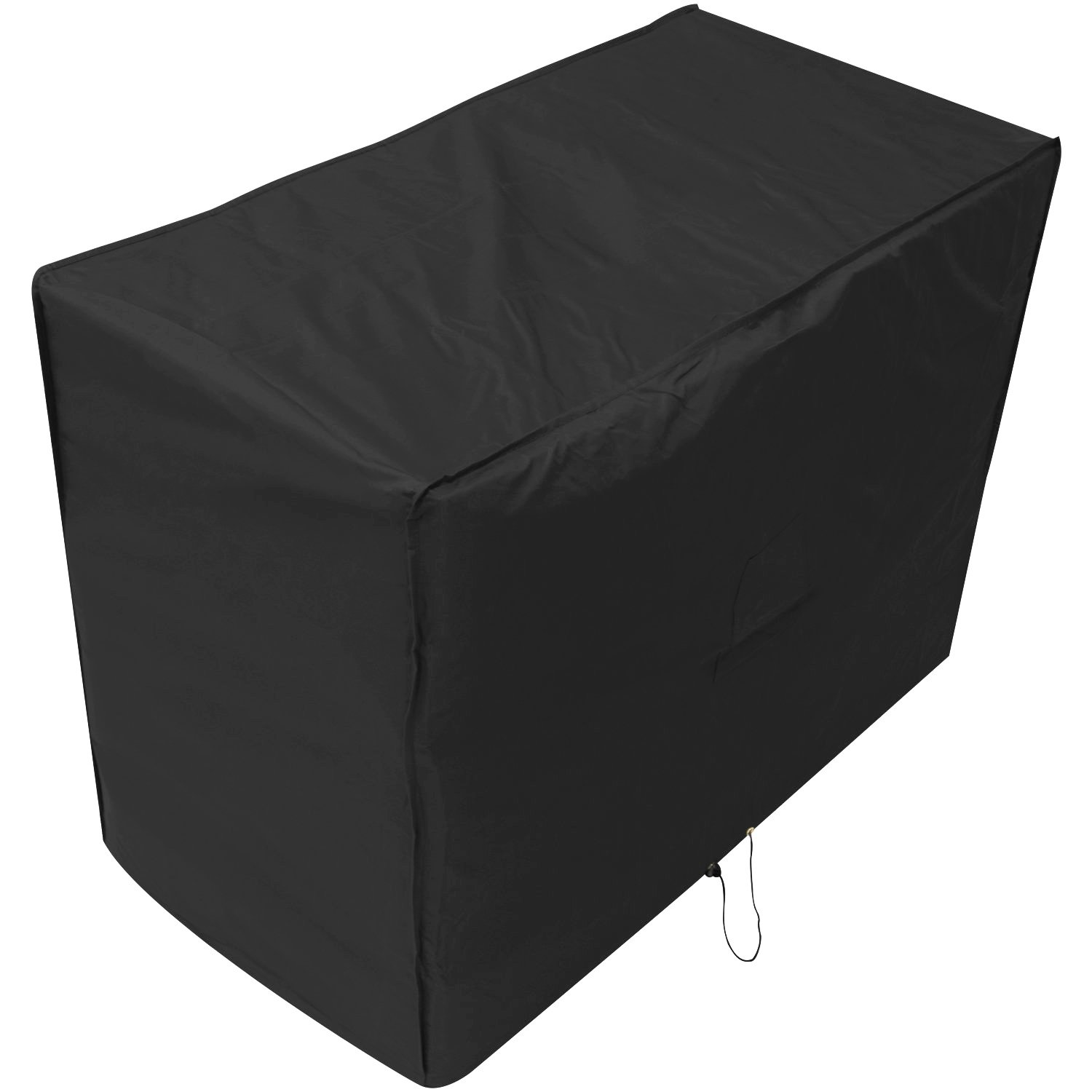 Black 2 Seater Outdoor Garden Patio Bench Cover 0.9m x 1.34m x 0.68m/3ft x 4.4ft x 2.2ft 5 YEAR GUARANTEE Woodside