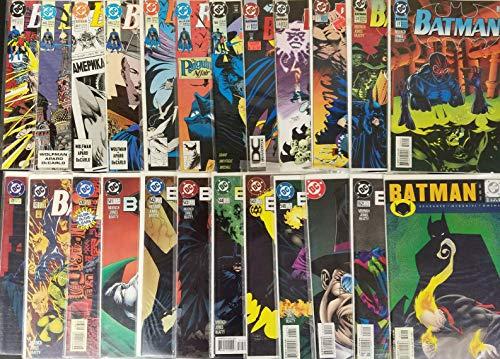 Large Batman 24 Issue Comic Book Lot Great Collection DC Comics SB5