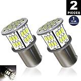 LUYED 2 x 650 Lumens 12v-24v 1156 1141 1003 3014 54-EX Chipsets Led Bulb Used For Back Up Reverse Lights,Brake Lights,Tail Lights,Rv light,Xenon White