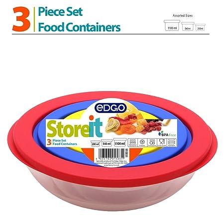 3 pc redonda kousaido varios tamaño de los contenedores de ...