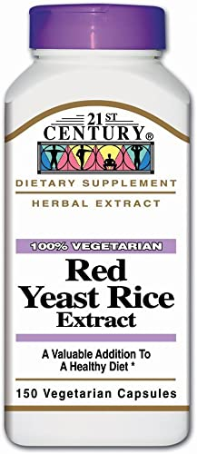21st Century Red Yeast Rice, Herbal Extract- 150 Vegetarian Capsules